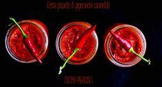 Crema piccante di peperoncini caramellati #cucinaparadiso #recipeoftheday #peperoncini #peperoni #hot