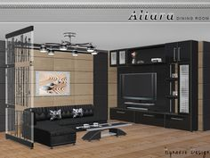 Altara Living Room by NynaeveDesign at TSR via Sims 4 Updates #Sims4 #Downloaded
