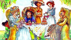 """""""Tea Time"""" by Taija Viglia - What if the Disney heroines were as old as the movies they starred in?"""