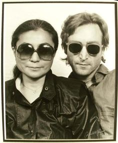 // Yoko & John Amazing sunglasses, get yours from www.sunglassesuk.com Source http://suicideblonde.tumblr.com/page/28