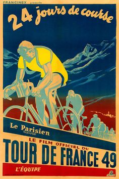 Product Description TITLE: 1949 Tour de France ARTIST: Anonymous CIRCA: 1949 ORIGIN: France Fine art giclee print on heavy acid free archival paper using 100+ year fade resistant inks. POSTER SIZING: