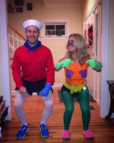 Awesome, fun and cheap Halloween Costumes and ideas. Looking for your next Halloween Costume? Discover easy halloween costumes and fun costumes for your next party or trick or treat. Cute Couples Costumes, Unique Couple Halloween Costumes, Last Minute Halloween Costumes, Halloween Outfits, Halloween Diy, Halloween Couples, Halloween Nails, Awesome Halloween Costumes, Halloween Makeup