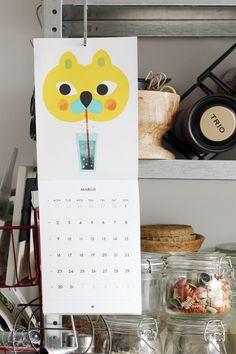 Oravanpesä | Maaliskuu kalenteri design Polkka Jam
