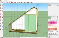 Slanted Ceiling Closet, Sloped Ceiling Bedroom, Attic Bedroom Storage, Bedroom Closet Design, Bedroom Wall Cupboards, Ikea Closet Doors, Loft Conversion Bedroom, Dressing Room Design, Build A Closet