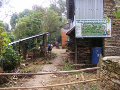 The entrance to Surya Prasad Adhikari permaculture farm.  The first of its kind in Nepal.