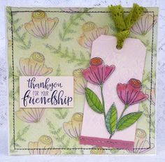 Hi there, this week I'm sharing a very feminine card with roses galore as I've used them on the background as well as my tag. Great for t...