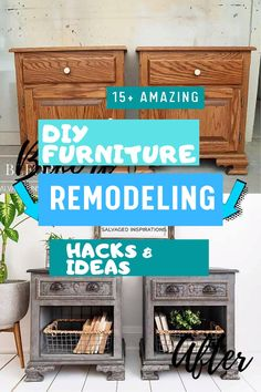 here are a few furniture makeovers that entirely repurposed the furniture and will leave you in awe: Furniture Makeover, Diy Furniture, Repurposed Furniture, Inspiration, Biblical Inspiration, Reclaimed Furniture, Furniture Redo, Handmade Furniture, Upcycled Furniture