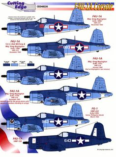Black Sheep F4U Corsair | Black Sheep F4U-1 Corsair Decal Review by Rodger Kelly (Cutting Edge 1 ...