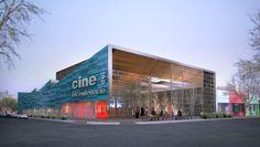 Cine del bicentenario en Río Gallegos. Más info en http://arqa.com/arquitectura/cine-del-bicentenario-en-rio-gallegos.html arquitectura | argentina | architecture