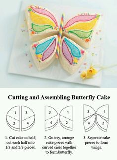 Butterfly birthday cake pattern