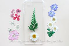 Decorate and Protect Your Phone with Real Natural Pressed Flowers on a Clear, Hard Plastic, Snap-On Case or on a Bumper Case! Receive many