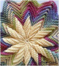 Crochet Pinwheel Pillow [PDF Pattern]