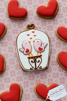 Cute. Valentines Day cookies