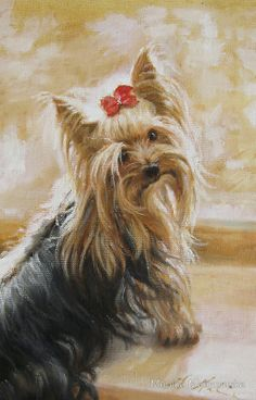 Bianko- Portrait of Yorkie. Now available on iPhone and iPads Cases. Nice gift for small dogs lovers.