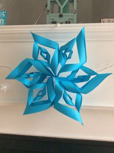 My snowflake craft Snowflake Craft, Snowflakes, Hanukkah, Wreaths, Crafts, Home Decor, Manualidades, Decoration Home, Snow Flakes