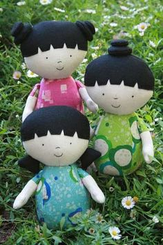 THREE LITTLE MAIDS SOFTIES CRAFT SEWING PATTERN - $17.50 : PatternsOnly, Patterns for Quilting, Patchwork, Handbags, Soft Toys,Clothing and More