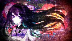 Long hair Mahou Shoujo Madoka Magica Akemi Homura purple eyes ...