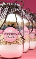 Mason jar gift idea. Loving this for wedding favors minus the cowgirl theme