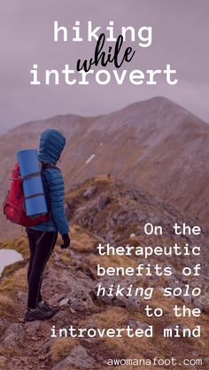 Hiking solo might be just what your introverted soul needs! Read on the benefits of hiking alone for introverts. Go Hiking, Hiking Tips, Backpacking Tips, Ultralight Backpacking, Hiking Gear, Hiking Training, Camping Tips, Solo Travel Tips, Travel Advice