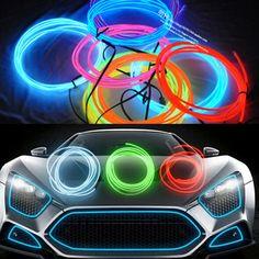 5m EL decorative strip light car interior lights ambient lighting retrofit body trim interior led cold light