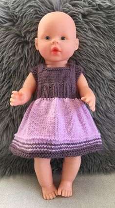 Baby Born Knitting Dolls Clothes, Knitted Dolls, Doll Clothes, Baby Knitting, Crochet Baby, Knit Crochet, Baby Born Clothes, Wellie Wishers Dolls, Doll Toys