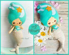 PDF Pattern. Seaside mermaid.