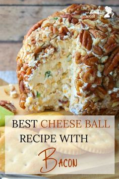 One of the best homemade cheese ball recipes this is a perfect thanksgiving cheese ball recipe you may want to try! This bacon special cheese balls are savory and fit in perfect as your thanksgiving and Christmas party appetizers. Try making a batch today Best Cheese Ball Recipe, Cheese Ball Recipes, Bacon Recipes, Cooking Recipes, Christmas Cheese Ball Recipe, Dip Recipes, Potato Recipes, Vegetable Recipes, Recipies