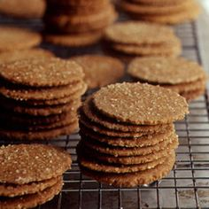 Recipe Wafer thin with a perfect crunch, these spicy cookies are delicious alone or make a great base for pies and tarts.Wafer thin with a perfect crunch, these spicy cookies are delicious alone or make a great base for pies and tarts. Cookie Desserts, Just Desserts, Cookie Recipes, Dessert Recipes, Martha Stewart Recipes Cookies, Candy Recipes, Ginger Snaps Recipe, Ginger Snap Cookies, Crisp Ginger Snap Recipe