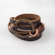 stone & smith leather cuff <3