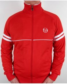 a6064de02 Sergio Tacchini Star Track Top Red white Tracksuit Tops