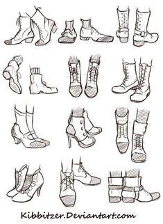 Manga Drawing Tips Shoes Reference Sheet Pés Drawing Reference Poses, Drawing Poses, Design Reference, Drawing Tips, Drawing Hair, Drawing Ideas, Drawing Drawing, Face Reference, Designs For Drawing