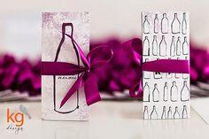 KG Design Papeteria Ślubna   z motywem butelki wina