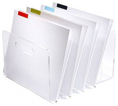 "Acrylic Desk Accessories Desk Organizer Back to School Supplies File Holder 10"" x 11.5"" X 6.5"""