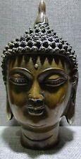 Vintage Bronze Tibet Tibetan Buddha Head Bust Statute #528