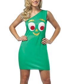 Look at this #zulilyfind! Green Gumby Costume - Women #zulilyfinds