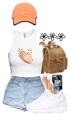 """""""triple swish"""" by lovebrii-xo ❤ liked on Polyvore featuring Le Donne, H&M and NIKE"""