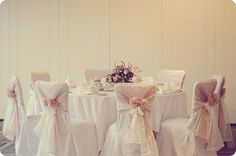 Wedding Chair Covers - alternative sash..interesting!