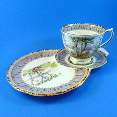 Royal Albert Silver Birch Tea Cup & Saucer Tennis Snack Set | Pottery & Glass, Pottery & China, China & Dinnerware | eBay!