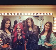 JWOWW, Snooki, Sammi, and Deena at Katie Couric on December 12, 2012