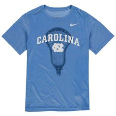 North Carolina Tar Heels Nike Youth Lacrosse Performance T-Shirt - Light Blue - $20.79