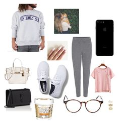 """Holding tight, sleeping at night"" by breakfestatgabis ❤ liked on Polyvore featuring Yves Saint Laurent, Chloé, Champion, Keds, Coach, Cutler and Gross and Miss Selfridge"