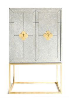 Jonathan Adler Mirrored Delphine Bar Cabinet