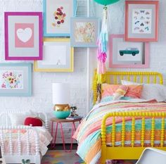 Girls Room Inspiration A roundup of gorgeous little girl rooms sure to give you some inspiration! Check it out on The post Girls Room Inspiration appeared first on Homemade Crafts. Bedroom Color Schemes, Bedroom Colors, Bedroom Decor, Bedding Decor, Teen Bedroom, Girls Bedroom Ideas Paint, Modern Bedroom, Kids Bedroom Ideas For Girls Toddler, Baby Kids