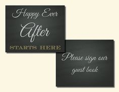 Chalkboard Wedding Signs Happy Ever After Mr by EllieMarieDesigns