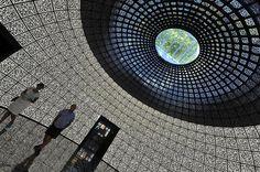 Russia's Futuristic QR Code Covered Pavilion