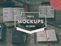 4 Hip Notebook Mock-ups - Freebbble