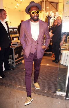Will.I.Am. I love this color palette and he looks awesome. #men's fashion