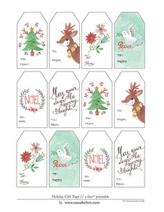 plus three DIY photo mats! Christmas Labels, Holiday Gift Tags, Christmas Gift Wrapping, Christmas Printables, Holiday Crafts, Christmas Holidays, Christmas Gift Tags Printable Free, Nordic Christmas, Christmas Candles