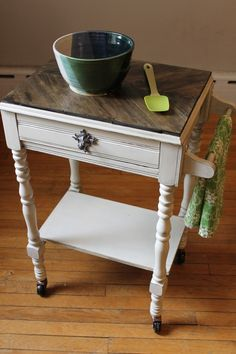 great painted furniture | Painted Furniture. / side table/night stand into a kitchen cart. such ...