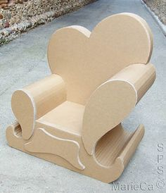 Marie's cardboard armchair
